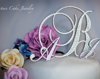 SALE! Triple Monogram Cake Topper