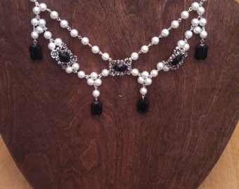 Beaded Victorian style necklace.
