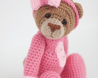 Crochet Bear Amigurumi Toy (Britney) - Made to Order