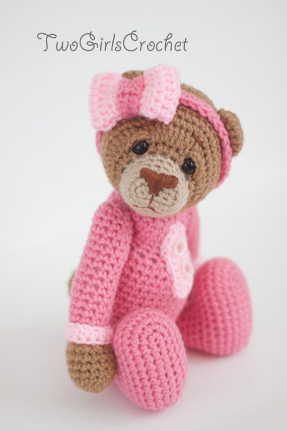 Amigurumi Bear Tutorial : Crochet Bear Amigurumi Toy Britney Made to Order