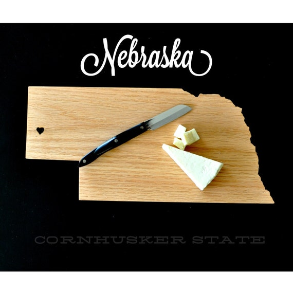 nebraska state shaped cutting board. Black Bedroom Furniture Sets. Home Design Ideas