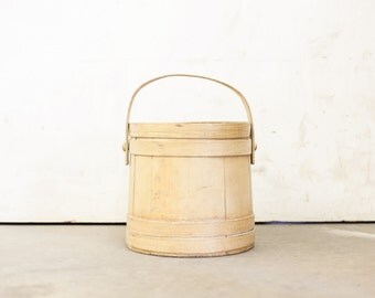 Antique English Pine Sugar Bucket