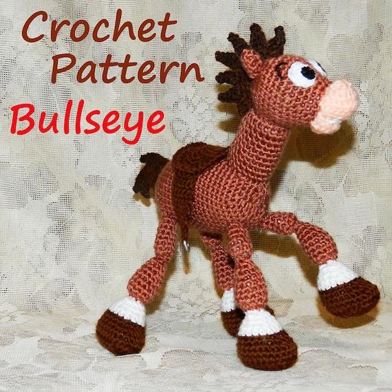 Amigurumi Toy Story : Crochet Pattern. Bullseye Toy Story