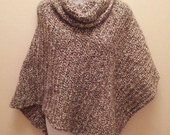 Cowl Neck Poncho women's poncho sweater