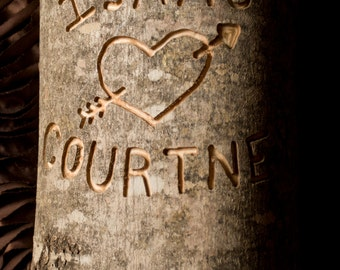 Cottage Chic Country Rustic Wedding Decor Custom Engraved Tree Log Personalized