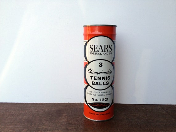 Vintage Collectors Canned Tennis Balls UNOPENED with KEY Sears & Roebuck and Simpson NO. 1221