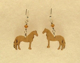 Beautiful Original Design Horse Earrings with Swarovski Crystal