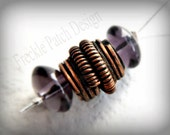 Ready to Ship, Copper Bead Bali Style Tube ,  Handmade by Anna Keene ,