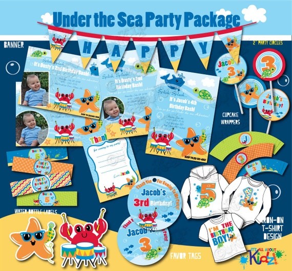 Boy's Adorable Under The Sea Party Birthday By ItsAllAboutKidz