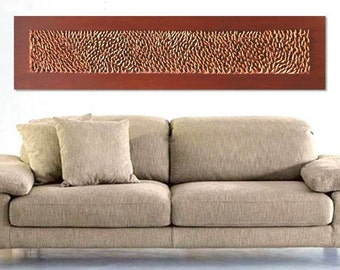 "3D  Decorative Wall  Panel - Textured Wall Sculpture - Handmade Home Decor - 59,1"" X 13,79"""