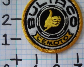 "Vintage ""Bultaco"" Motorcycle Patch (003)"