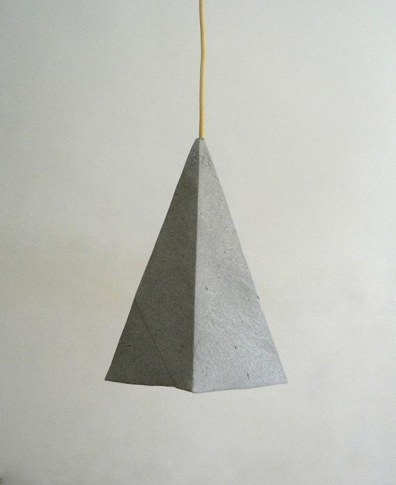 Paper Mache Lamp Alum Lamp Pendant Light Hanging By CreaReDesign