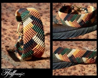 Beautiful woven macrame feathered bracelet