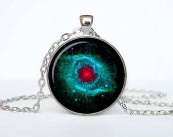 Nebula Pendant  Helix Nebula Necklace Nebula Jewelry Galaxy Space Glass Bezel Art Photo
