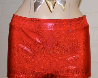 Red Disco Roller Derby Shorts.