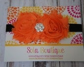 Double Shabby Halloween Headband