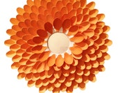 Orange Chrysanthemum Ombre Mirror- Small - Coastail
