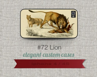 Cell Phone Case Iphone 5 / 5S / 5C 4 / 4S Samsung Galaxy S3 / S4 - LionDesign number 72