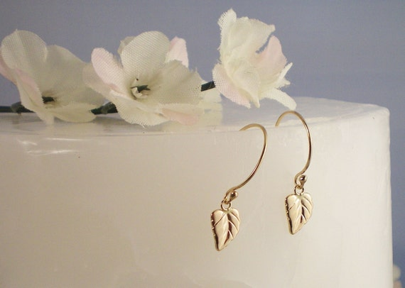 items similar to gold filled leaf earrings kate middleton