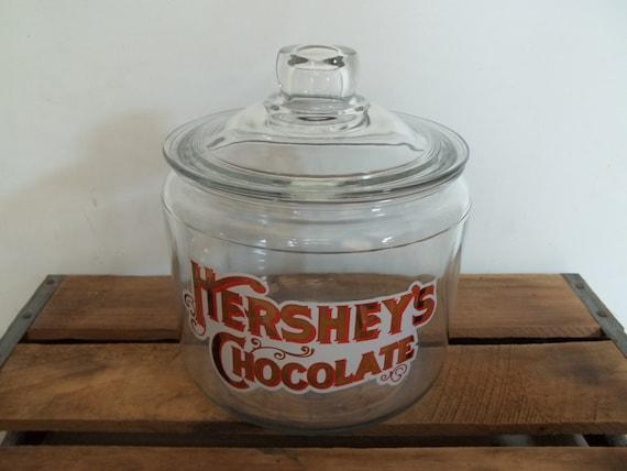 Vintage Hershey S Chocolate Glass Lidded Jar Candy Jar