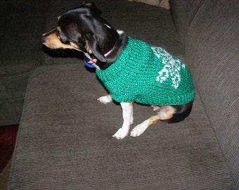 """Dog Sweater: Christmas """"Snowflake"""""""
