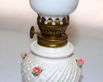 Small ceramic hurricane lamp