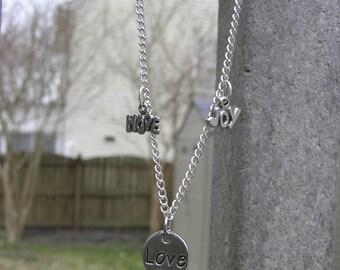 Love, hope, joy necklace