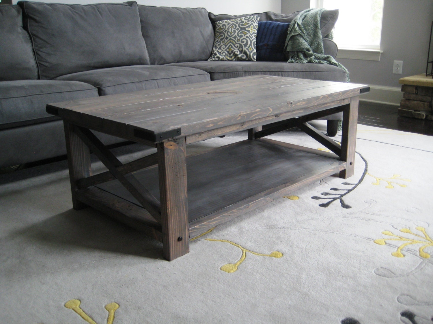 Rustic x distressed handmade coffee table for Rustic coffee table