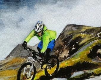Orange 5 on Cadair Idris, limited edition mountain bike print