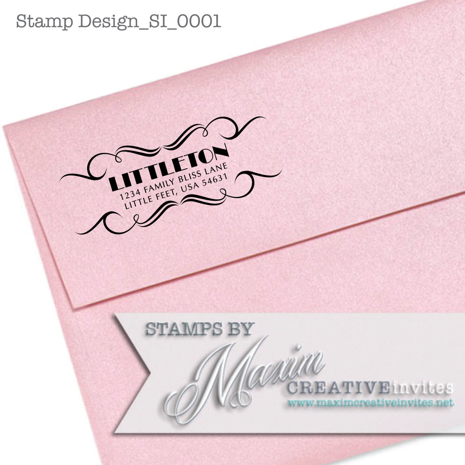 personalized self inking rubber stamp wedding gift return