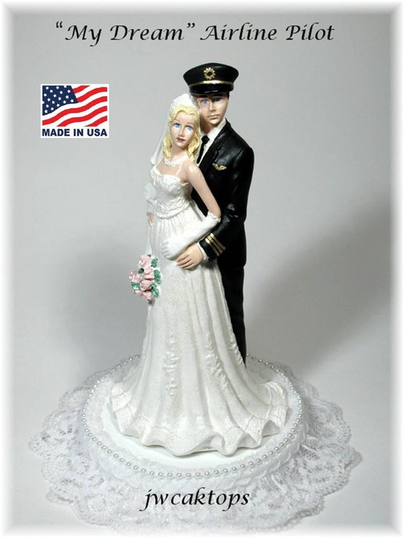 Pilot Wedding Cake Topper