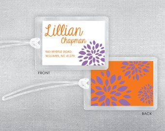Boland Design Paper Co. Flower luggage tag. Bag tag.
