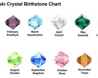 Add Birthstone Bicone Crystal - Swarovski Crystals - Choose Your Month
