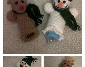 Crocheted WINTERY BABY BOTTLE Cozy Patterns