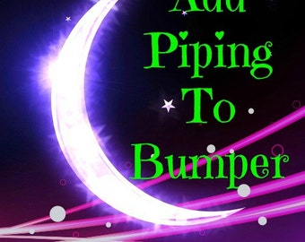 Add Piping To Crib Bumper / Custom Boutique Baby Bedding / Design Your Own