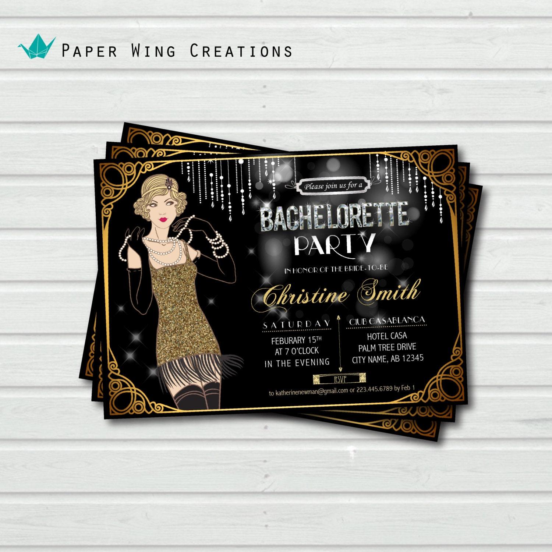 Great Gatsby Party Invitations – Great Gatsby Party Invitations