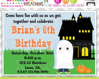 213: DIY - Halloween 7 Party Invitation Or Thank You Card