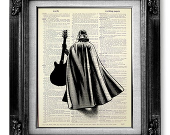 Darth Vader Star Wars Poster, Darth Vader Poster, Star Wars Art Print Illustration Painting Cool Guitar Poster Artwork - Darth Vader Solo