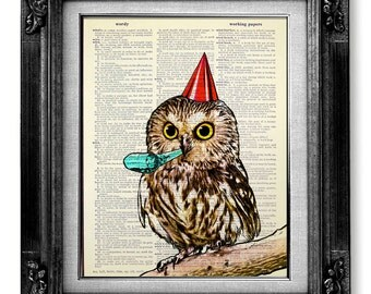 OWL Baby Shower Decor, KIDS Room Decor Owl Decor Nursery Owl Art, PLAYROOM Wall Art, Baby Room Owl Print Nursery Owl Painting, Owl Party Boy