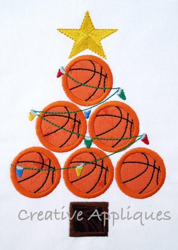 Basketball Christmas Tree Digital Machine by Creativeapplique