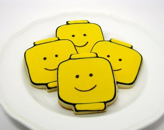 Lego Man Sugar Cookies-Perfect for a Lego Party!