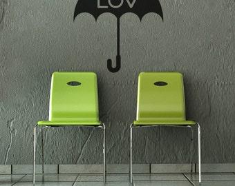 Umbrella wall decal home wall decor