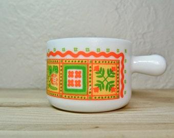 Milk Glass Colourful Mug