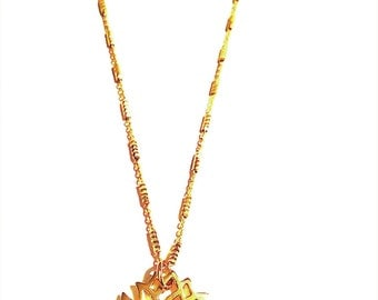 New Beginnings Necklace - Gold Vermeil Lotus, Sterling Silver Lotus