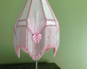 Pretty In Pink Victorian Lampshade