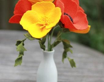 Felt California Poppy Bouquet