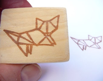 Cat hand carved rubber stamp