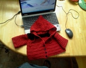Red and Black Baby Hoodie