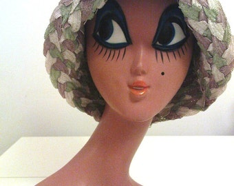 Vintage 50s/60s Unblocked Straw Millinery Hat Body/Hood