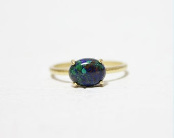 Oval Azurite Ring